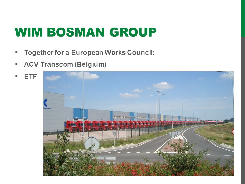 Wim Bosman group Together for a European Works Council: