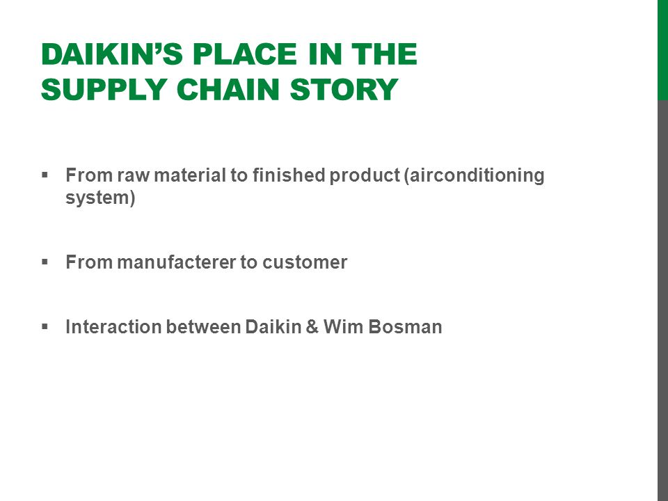Daikin's place in the supply chain story