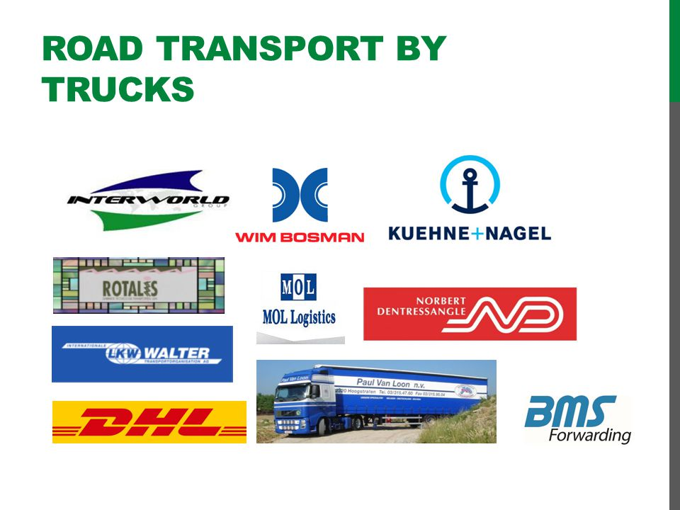 Road transport by trucks