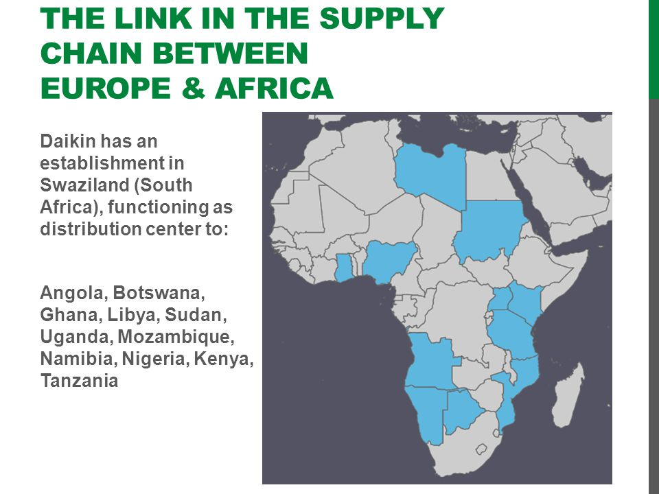 The link in the supply chain between Europe & Africa