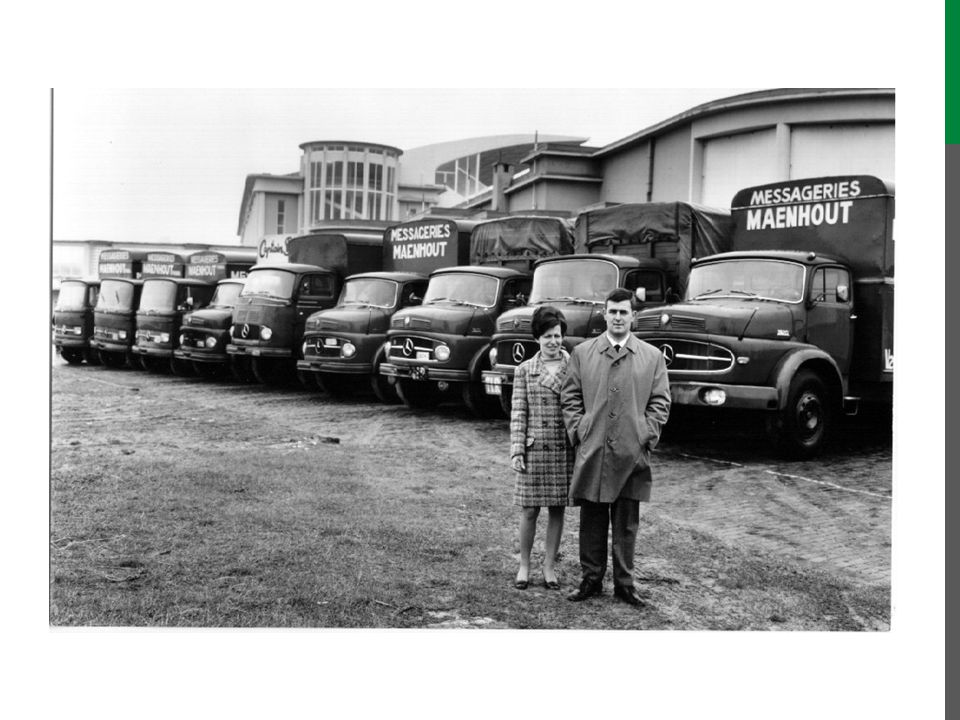 During the rural 60's, Transport Maenhout remained a constant factor and value in and around Ostend.