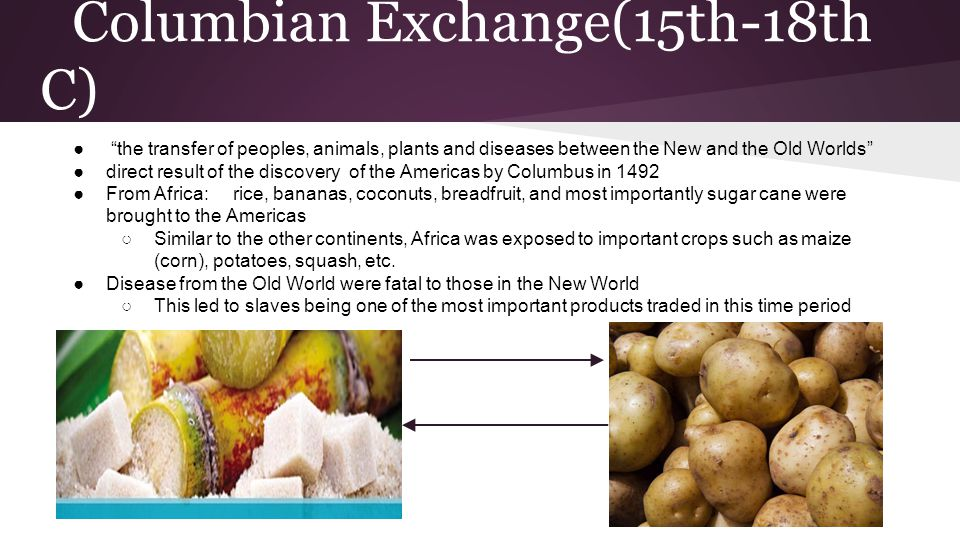 Columbian Exchange(15th-18th C)