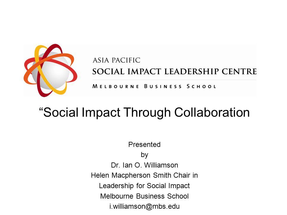 Social Impact Through Collaboration