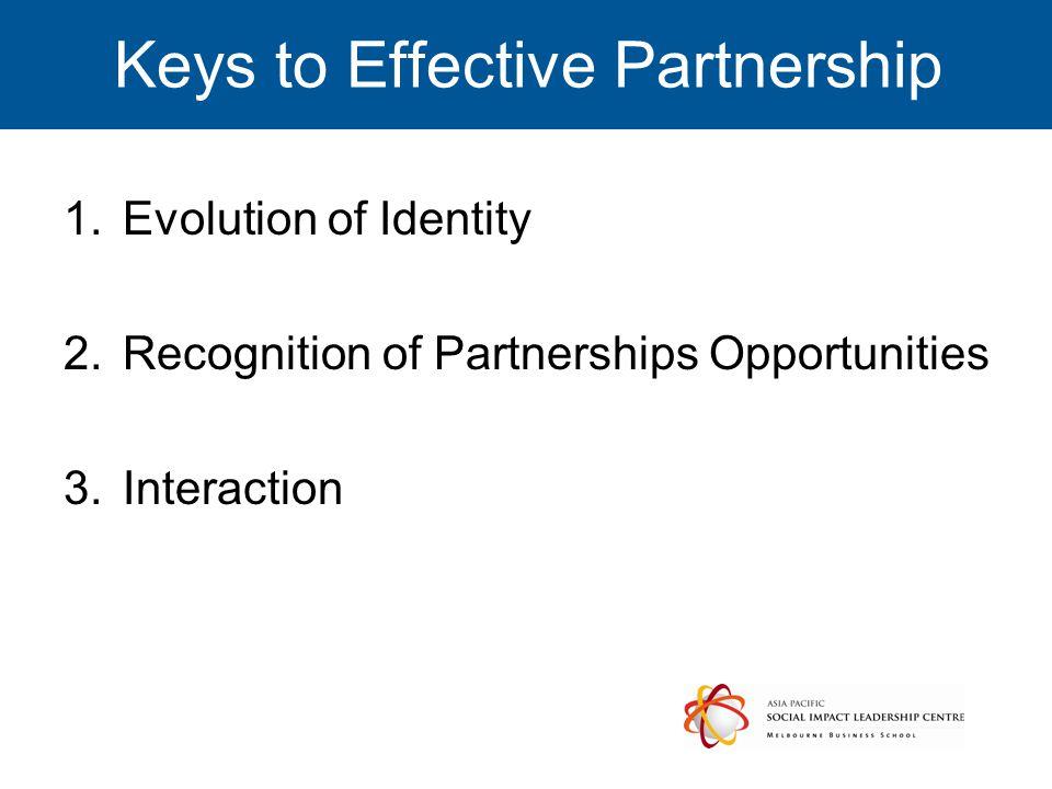 Keys to Effective Partnership