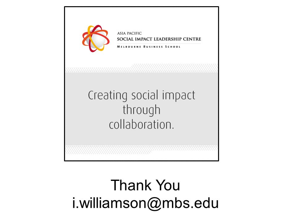 Thank You i.williamson@mbs.edu