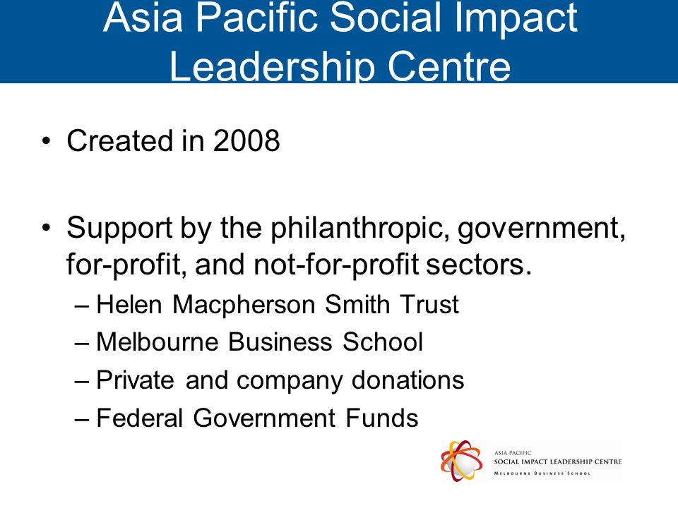 Asia Pacific Social Impact Leadership Centre