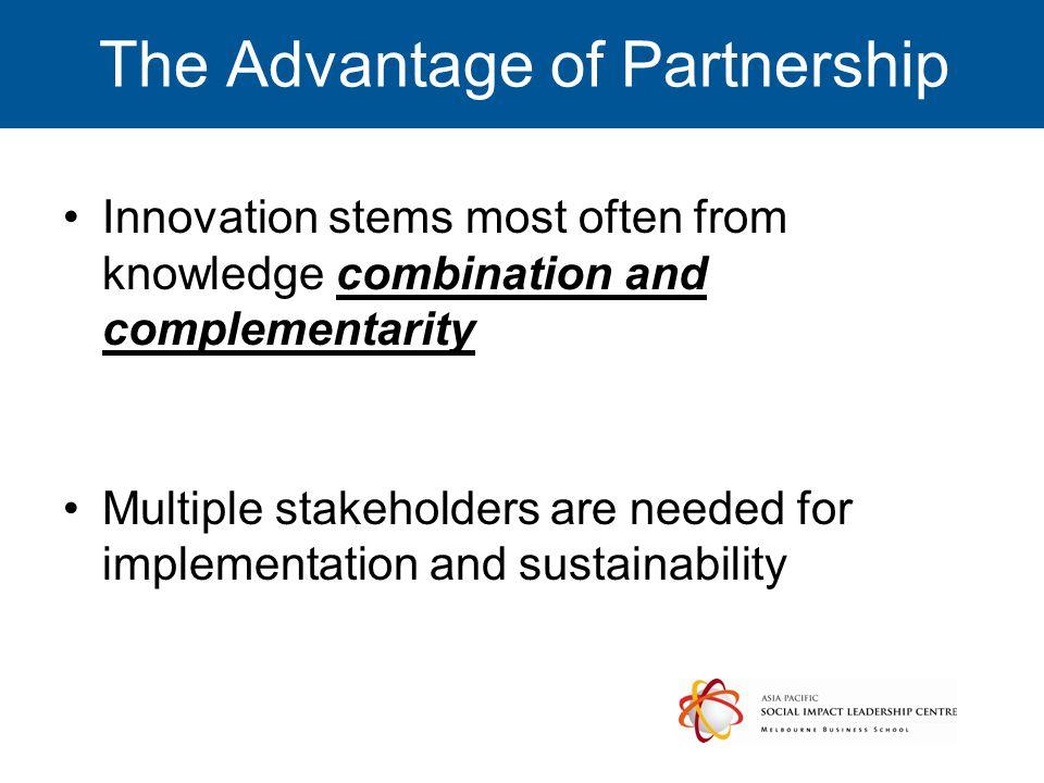 The Advantage of Partnership