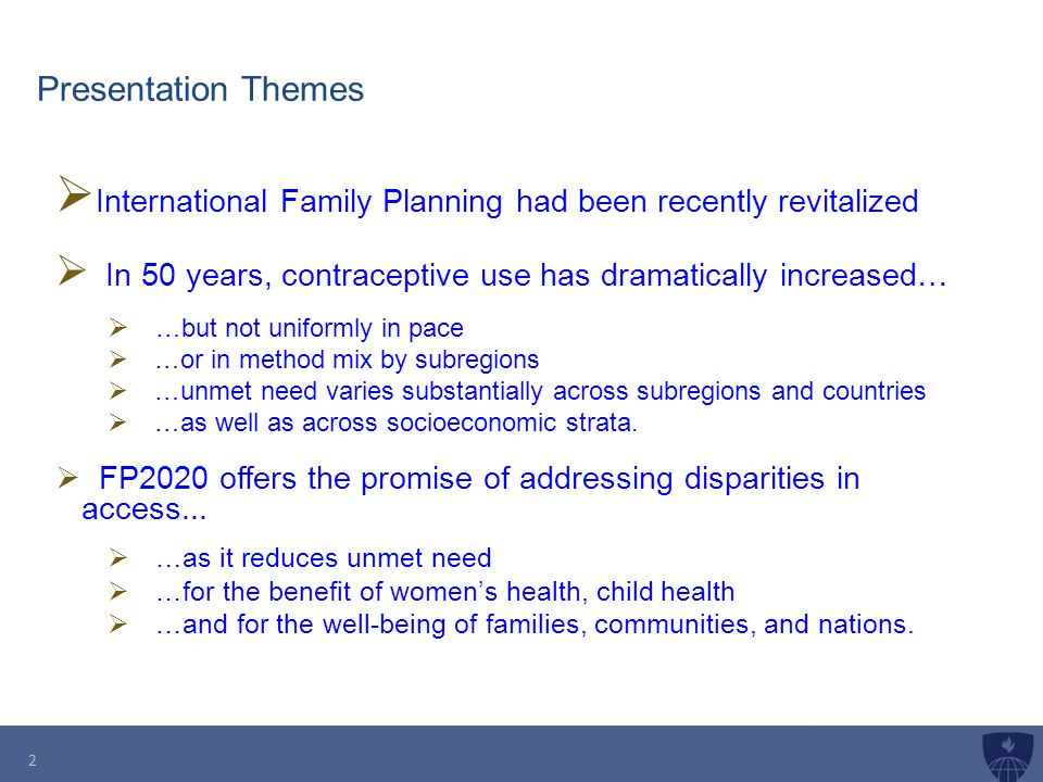 International Family Planning had been recently revitalized