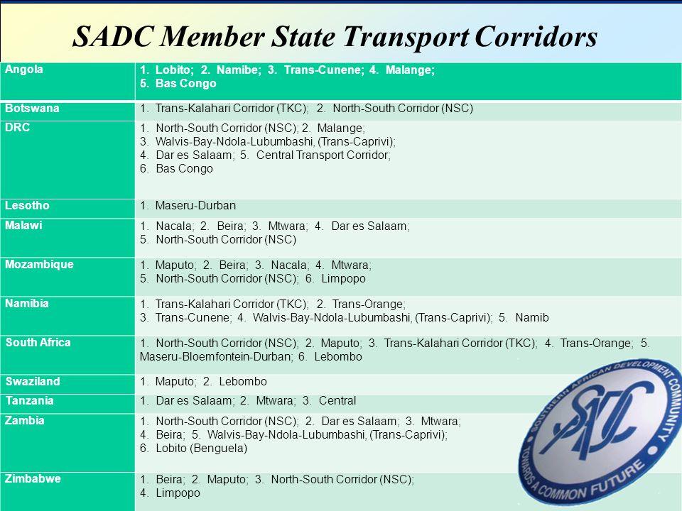 SADC Member State Transport Corridors