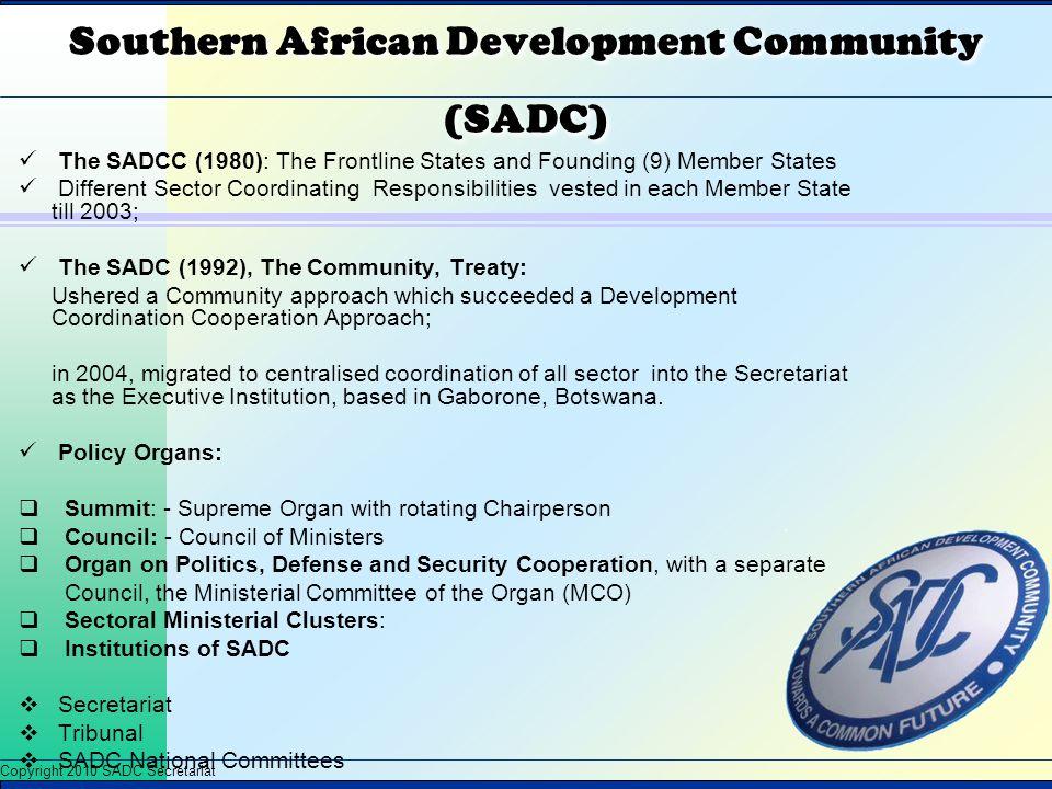 Southern African Development Community (SADC)