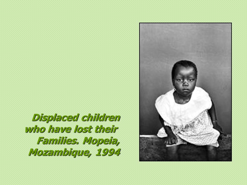 Displaced children who have lost their