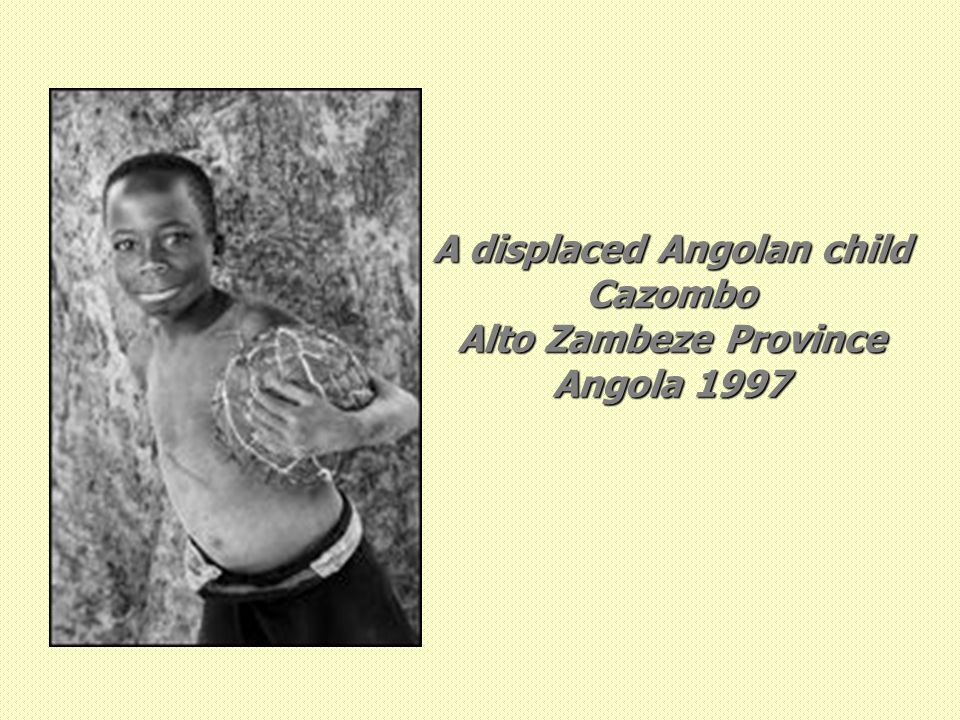A displaced Angolan child