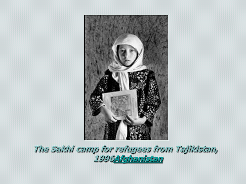 The Sakhi camp for refugees from Tajikistan,