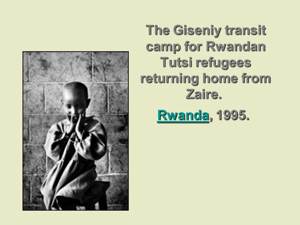 The Giseniy transit camp for Rwandan Tutsi refugees returning home from Zaire. Rwanda, 1995.