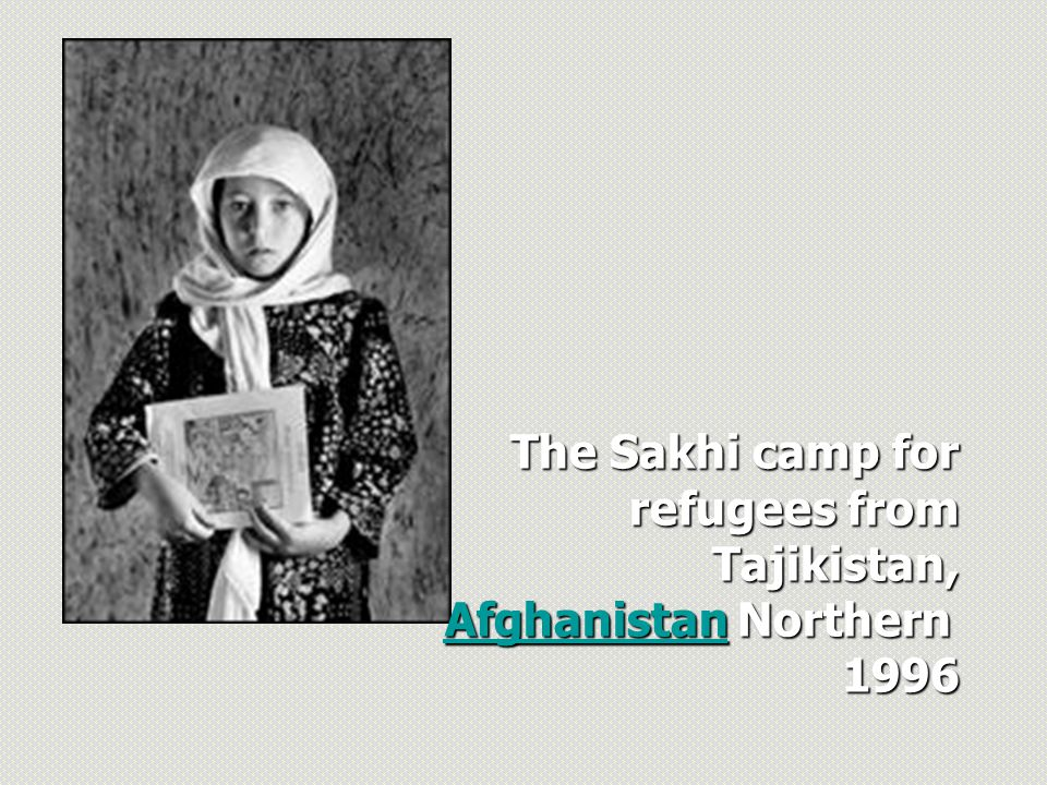 The Sakhi camp for refugees from Tajikistan, Afghanistan Northern 1996