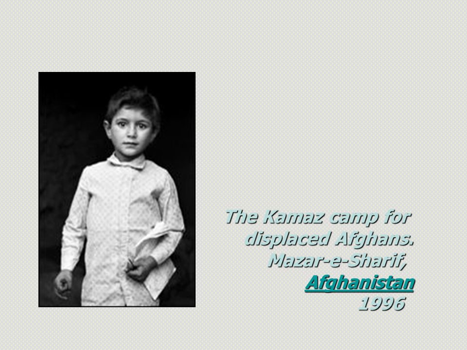 The Kamaz camp for displaced Afghans. Mazar-e-Sharif, Afghanistan 1996