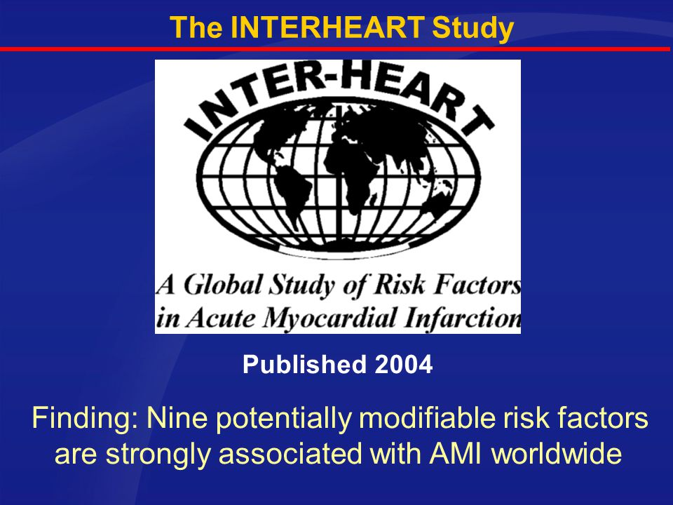Published 2004 The INTERHEART Study