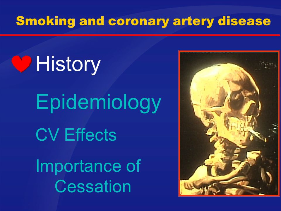 Smoking and coronary artery disease
