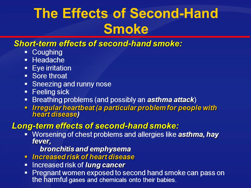 The Effects of Second-Hand Smoke