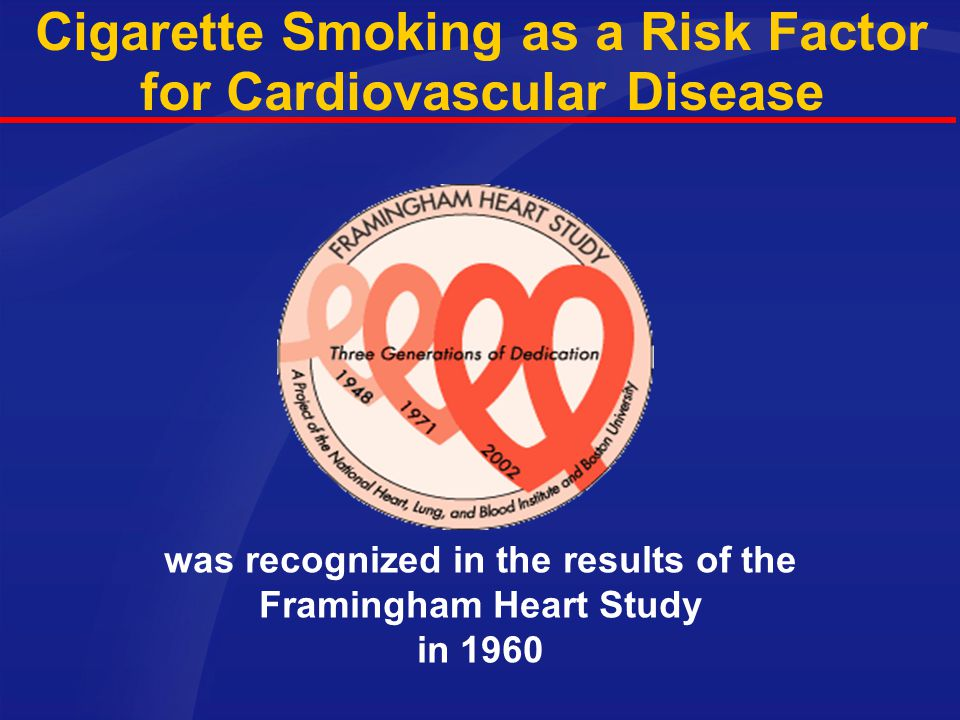 Cigarette Smoking as a Risk Factor for Cardiovascular Disease