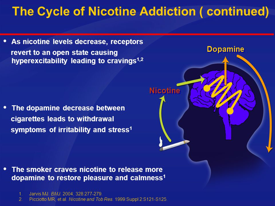The Cycle of Nicotine Addiction ( continued)