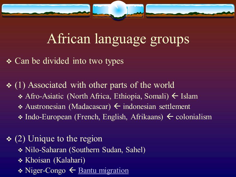 African language groups