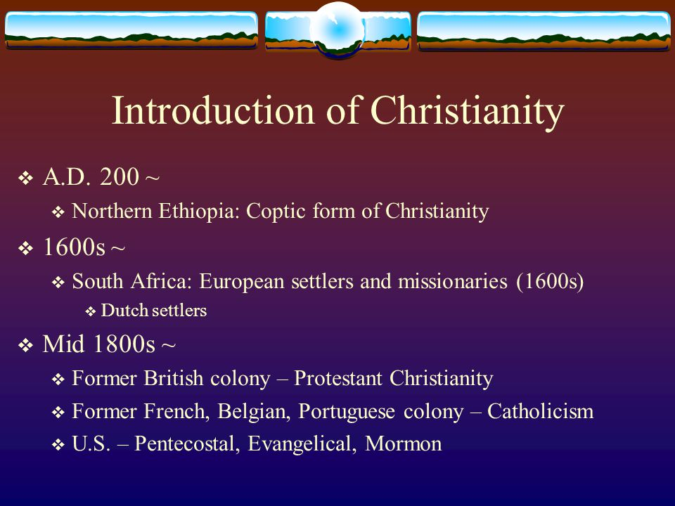 Introduction of Christianity