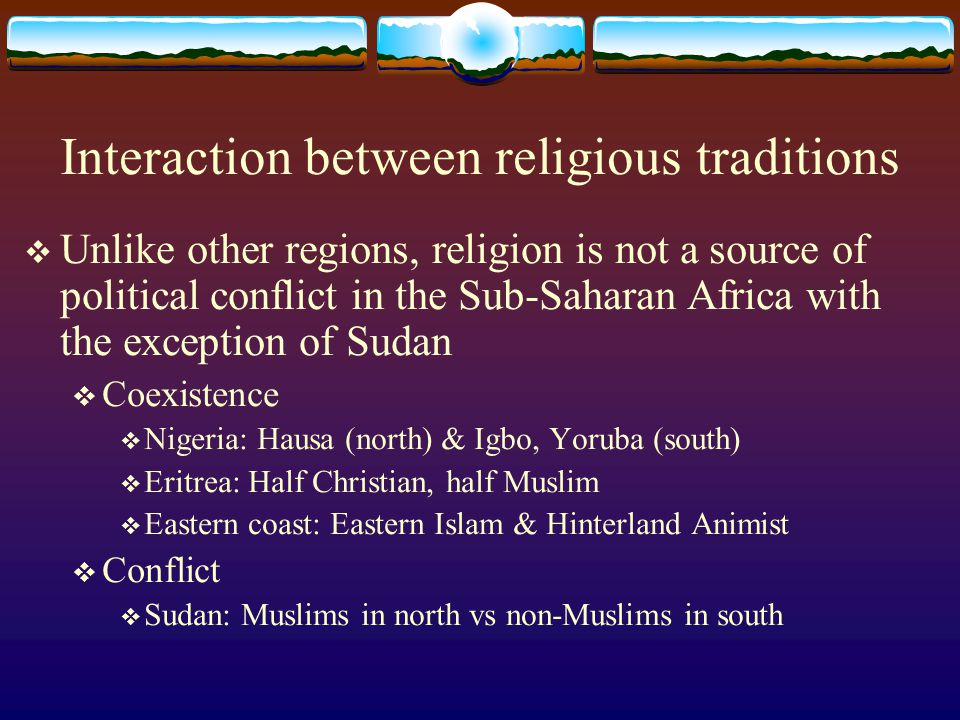 Interaction between religious traditions
