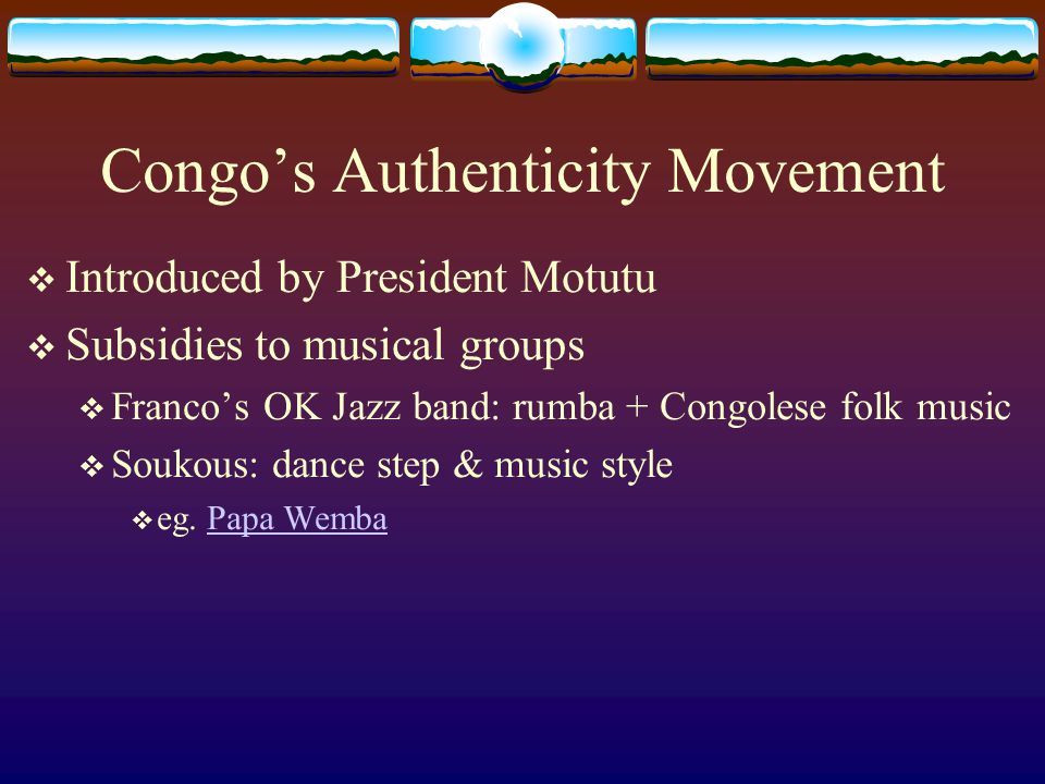 Congo's Authenticity Movement