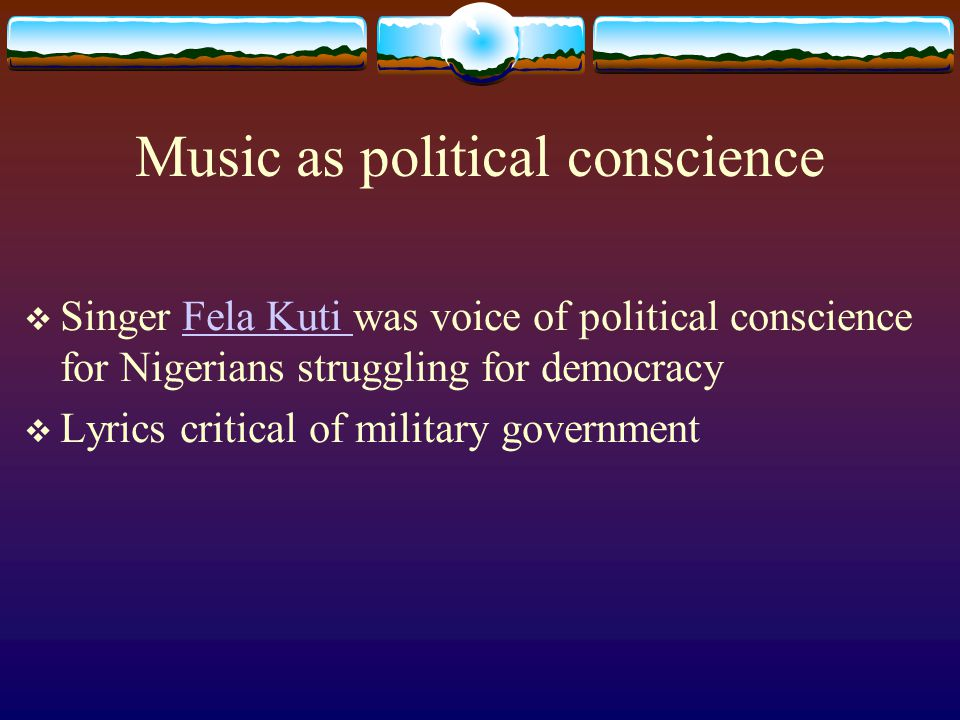 Music as political conscience