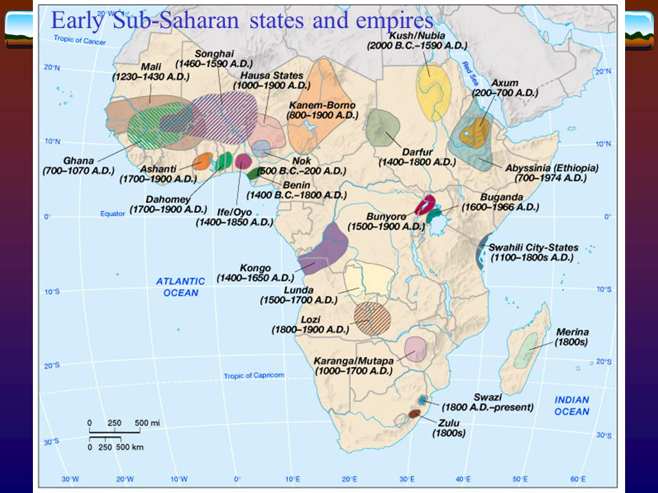 Early Sub-Saharan states and empires
