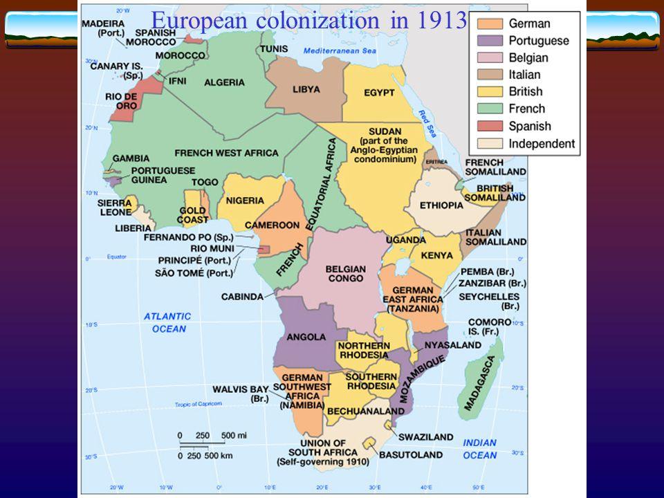 European colonization in 1913