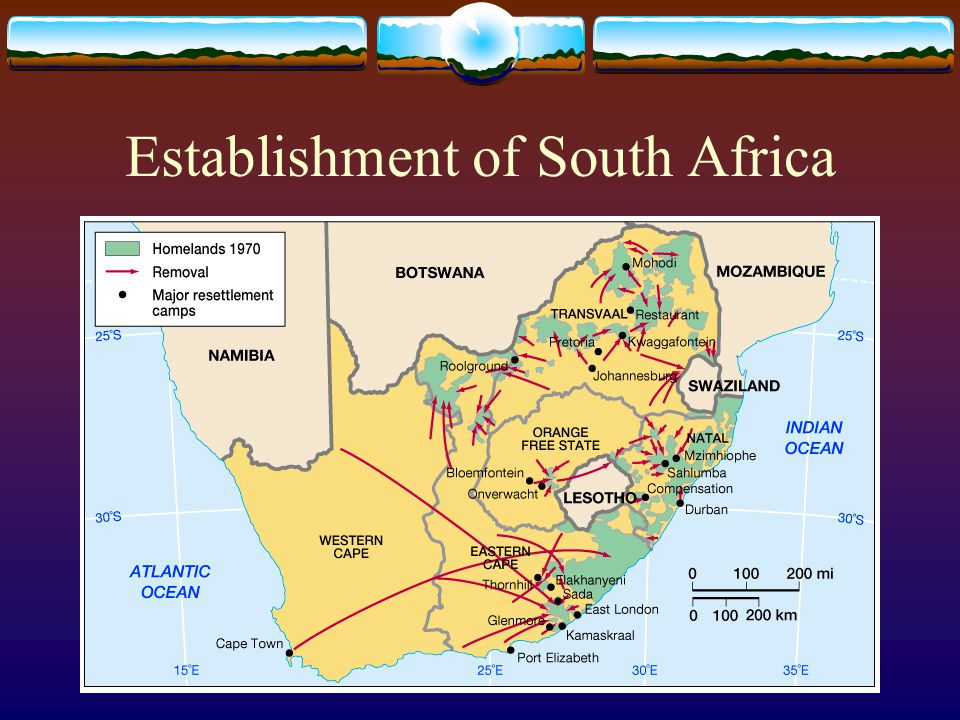 Establishment of South Africa