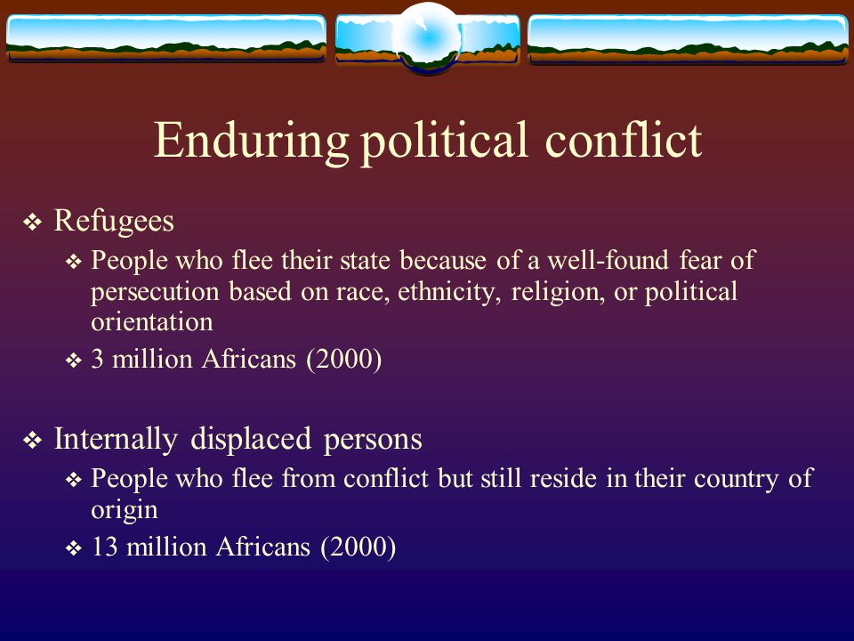 Enduring political conflict