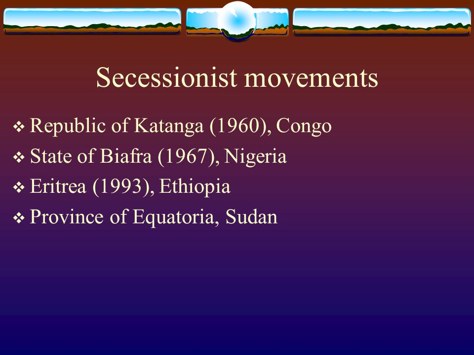 Secessionist movements