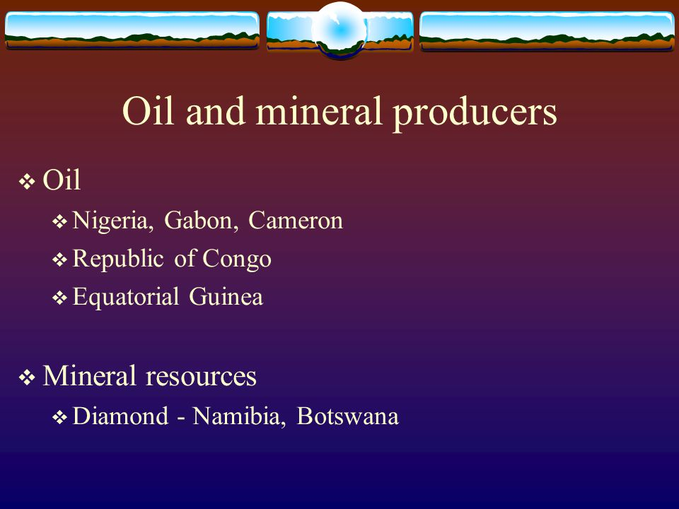 Oil and mineral producers
