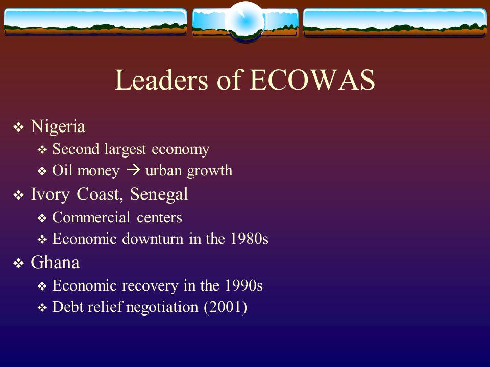 Leaders of ECOWAS Nigeria Ivory Coast, Senegal Ghana