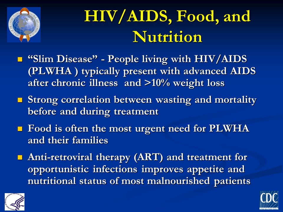 HIV/AIDS, Food, and Nutrition