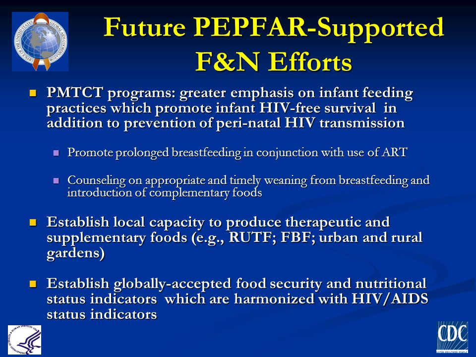 Future PEPFAR-Supported F&N Efforts