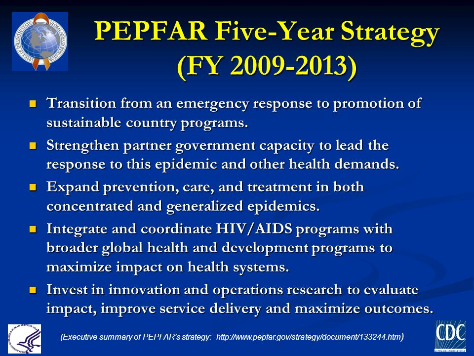 PEPFAR Five-Year Strategy (FY 2009-2013)