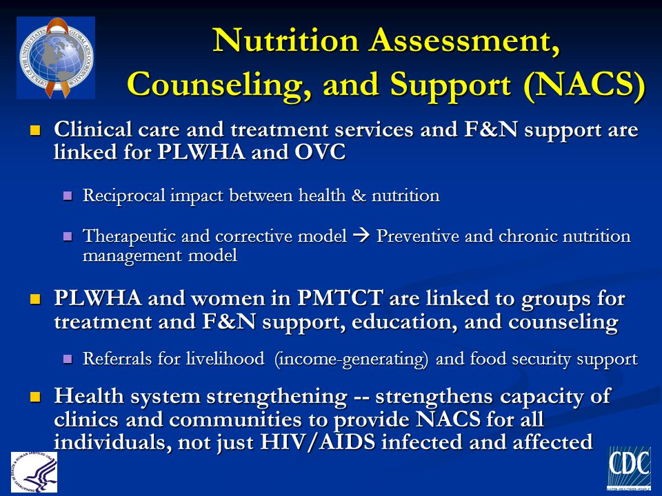 Nutrition Assessment, Counseling, and Support (NACS)