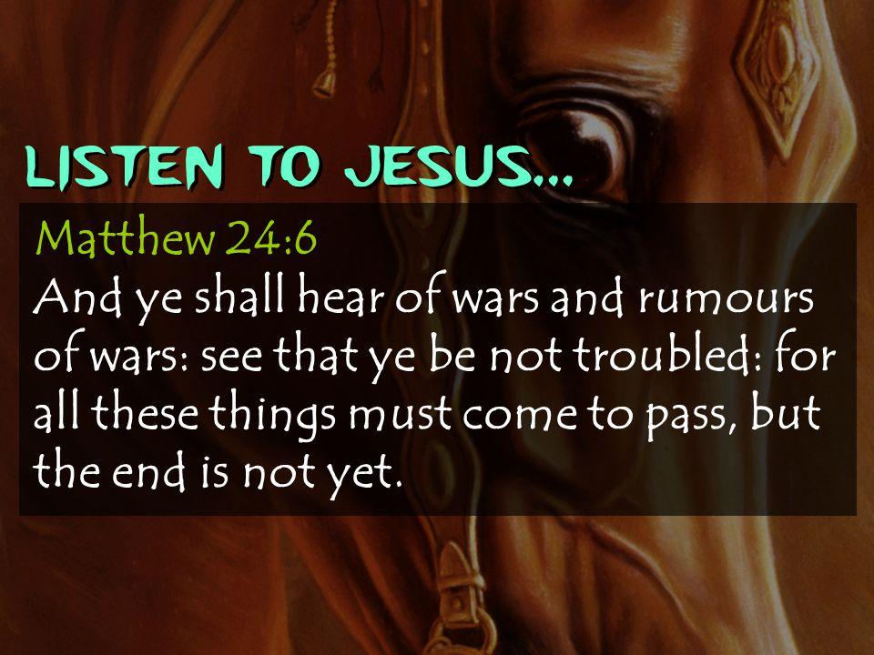 Listen to Jesus…