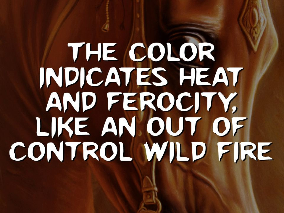 The color indicates heat and ferocity, like an out of control wild fire