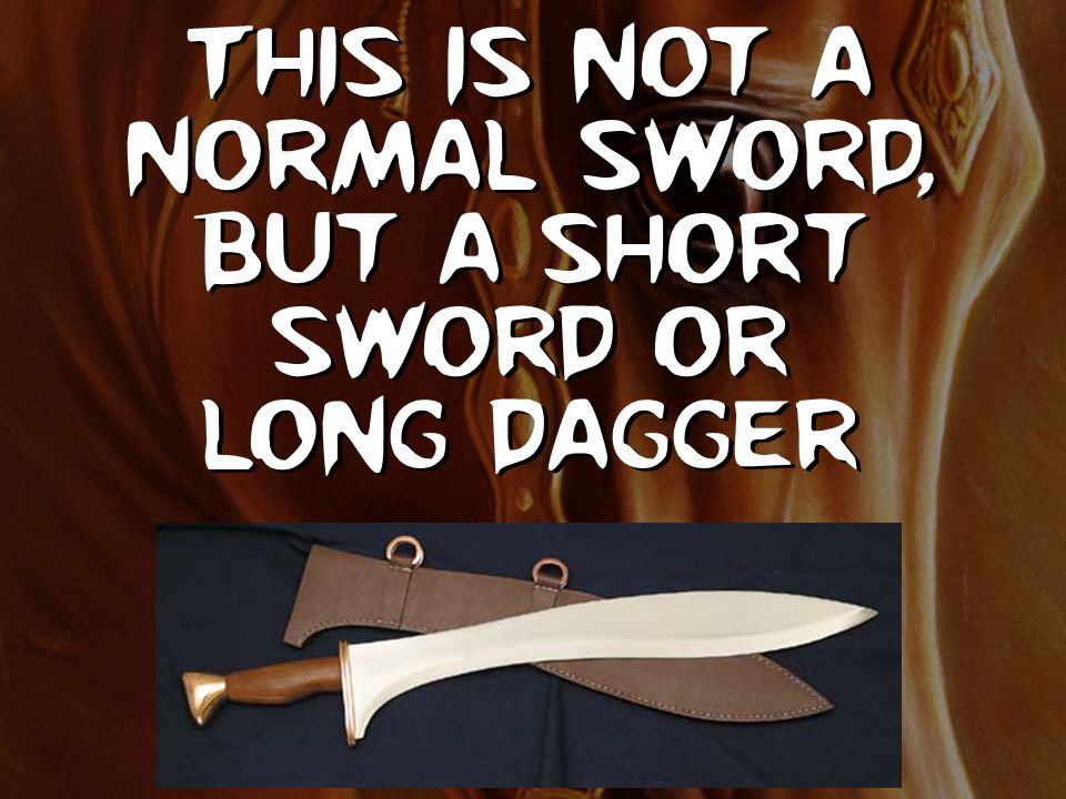 This is not a normal sword, but a short sword or long dagger