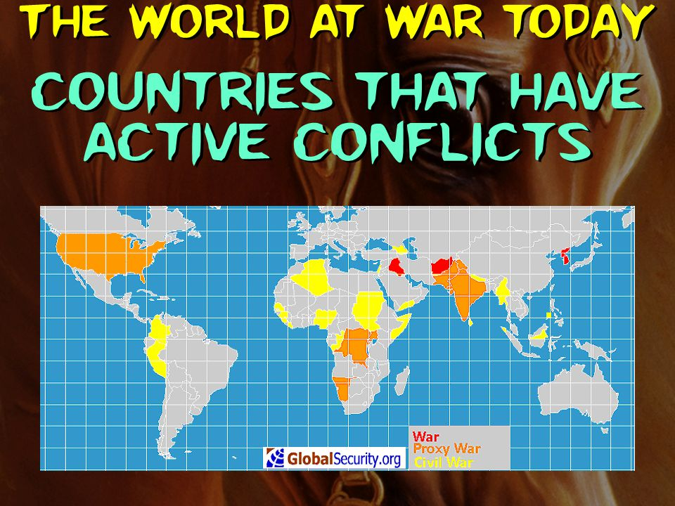 Countries that have active conflicts