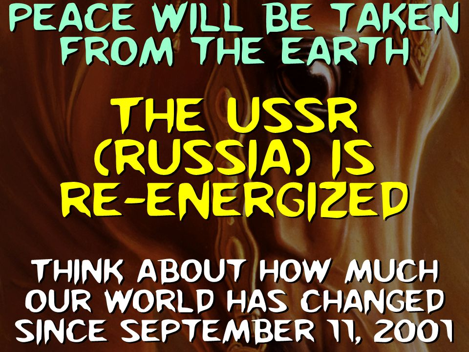 The USSR (Russia) is re-energized