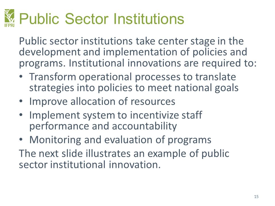 Public Sector Institutions