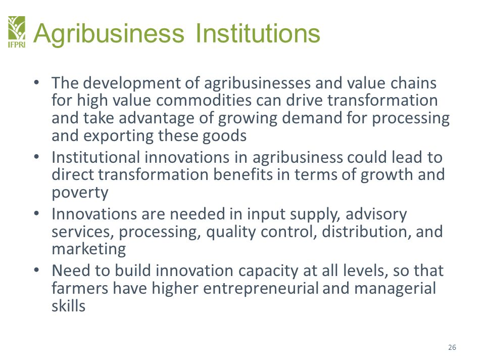 Agribusiness Institutions