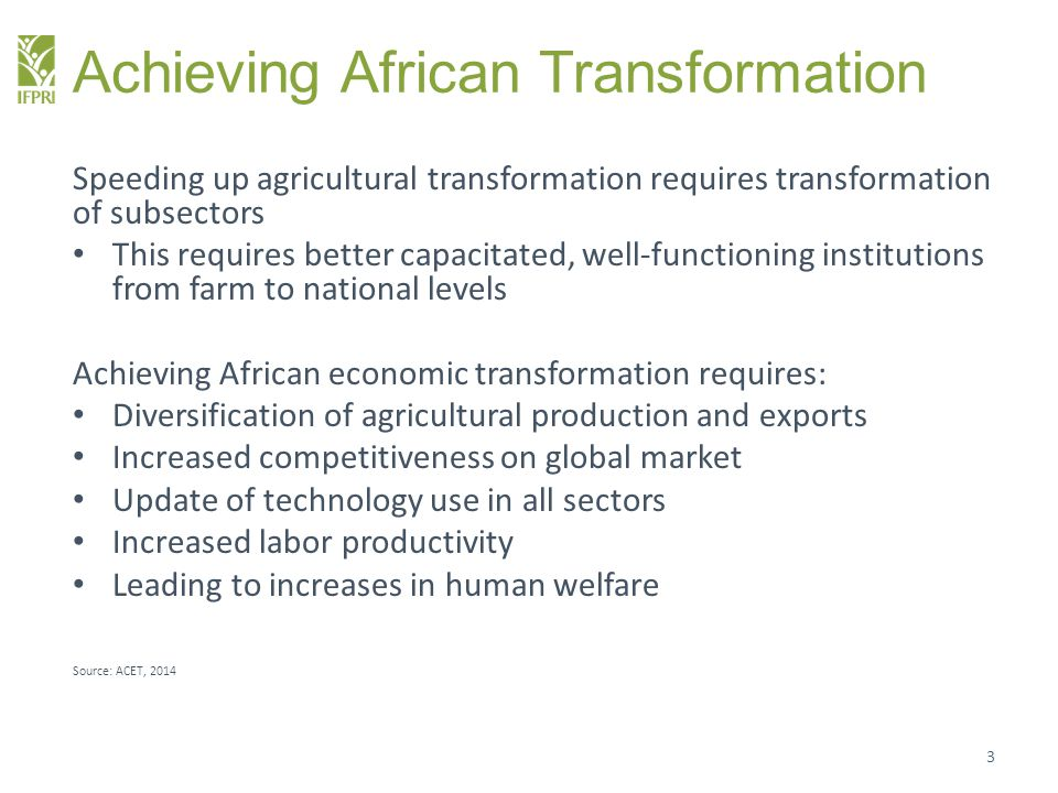 Achieving African Transformation