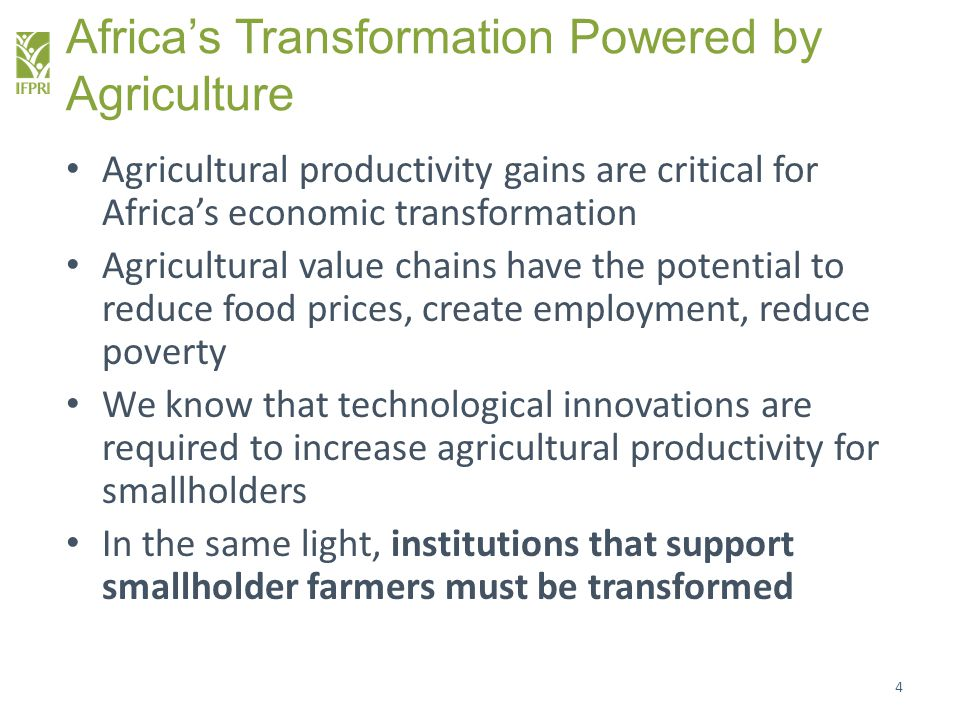 Africa's Transformation Powered by Agriculture